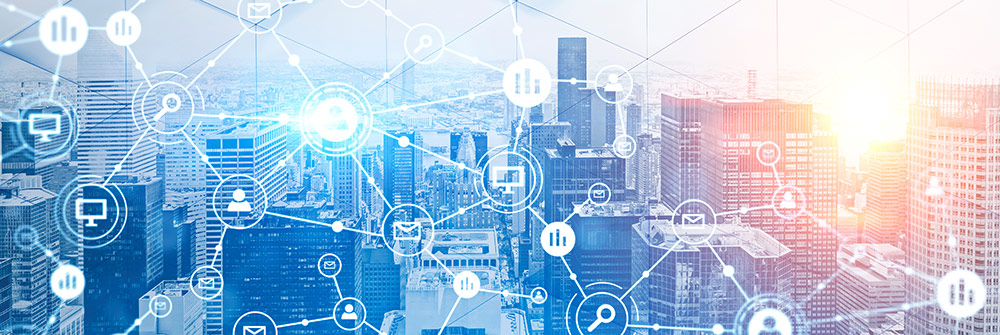 technology cityscape